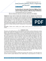 PLC Based Automatic Electrical Billing Meter and Power Supply Control Using Frequency Shift Keying Modulation