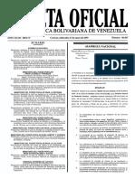 Gaceta Oficial Número 40.837 de la República de Venezuela, 27 de enero de 2016