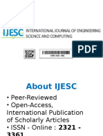 International Journal of Engineering Science and Computing
