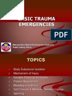 Basic Trauma Emergencies Response