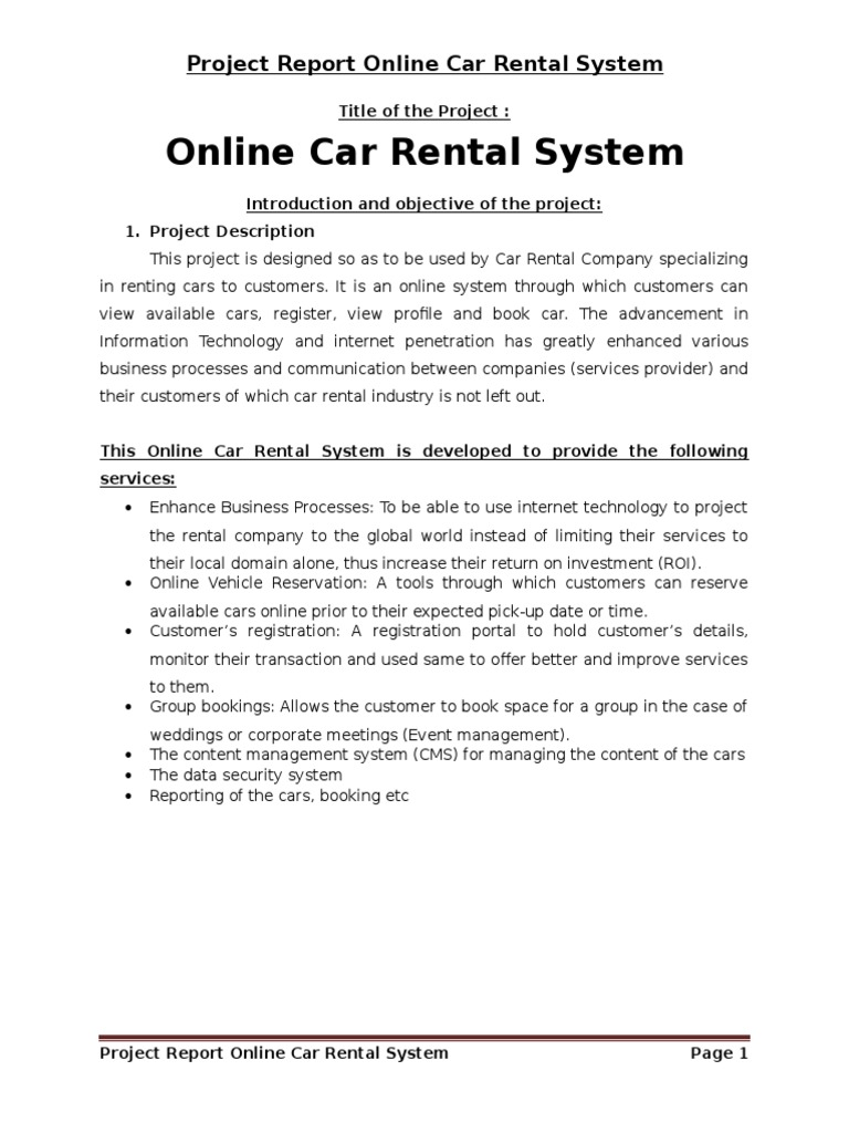 online car rental system project report on php car rental car