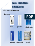 Standardization of HCl Solution