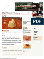 Almond and Lime Panna Cotta - Recipes - Poh's Kitchen