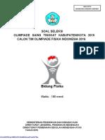 Soal Osn Fisika Tingkat Kabupaten Kota Tahun 2015