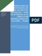 Cira - Expedicion de Certificado de Inexistencia de Restos Arqueologicos
