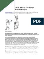 Artikel Pendidikan Tentang Pentingnya Pendidikan Dalam Kehidupan