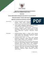 PMK No. 1031 Ttg Batas Maksimum Cemaran Radioaktif Dalam Pangan