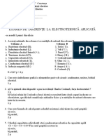Examen de Diferente Cls. a X-A Electrotehnica Aplicata -Tehnician Instalatii Electrice