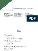 Urdu Resource Grammar