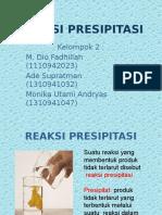 unit proses presipitasi