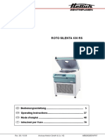 Hettich Roto Silenta 630 RS Centrifuge - User Manual