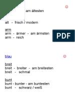 Adjektive für Deutsch