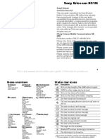 Sony Ericsson K510i Manual