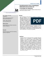 Desdobramentos Para a Modelagem Matemática Decorrentes Da Formulação de Hipóteses