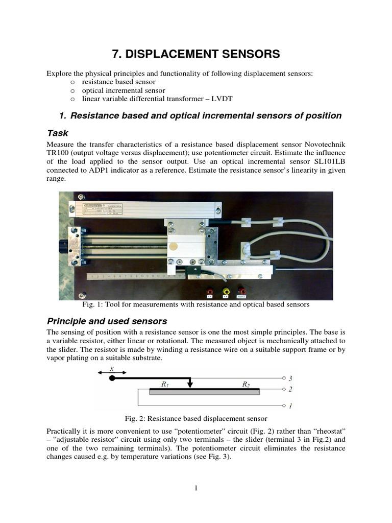 07 Displacement Transformer Resistor Variable Circuit