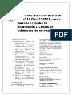 Propuesta del Curso Básico e Intermedio de AutoCAD Civil 3D 2014 (Riego).docx