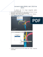 Tahapan Konversi Data RKAKL Dari 2014 Ke 2015