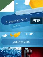 Presentación El Agua en Vino