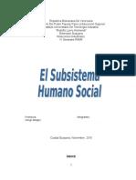 Trabajo Psicologia El Subsistema Humano Social