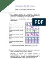Matemática - Exercícios Resolvidos - MDC MMC