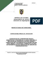 Proyecto Pliego de Condiciones Conv.009 Interventoria Plan Maestro