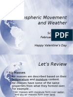 atmospheric movement and weather