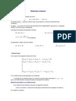 Matemática - Resumos Vestibular - Sistemas Lineares
