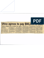 12/5/2006, Utica OD, Utica Agrees to Pay $90,000 in Suit