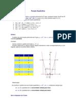 Matemática - Resumos Vestibular - Função Quadrática