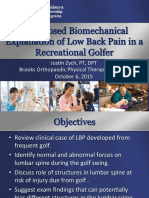 a proposed biomechanical explanation of low back pain pdf