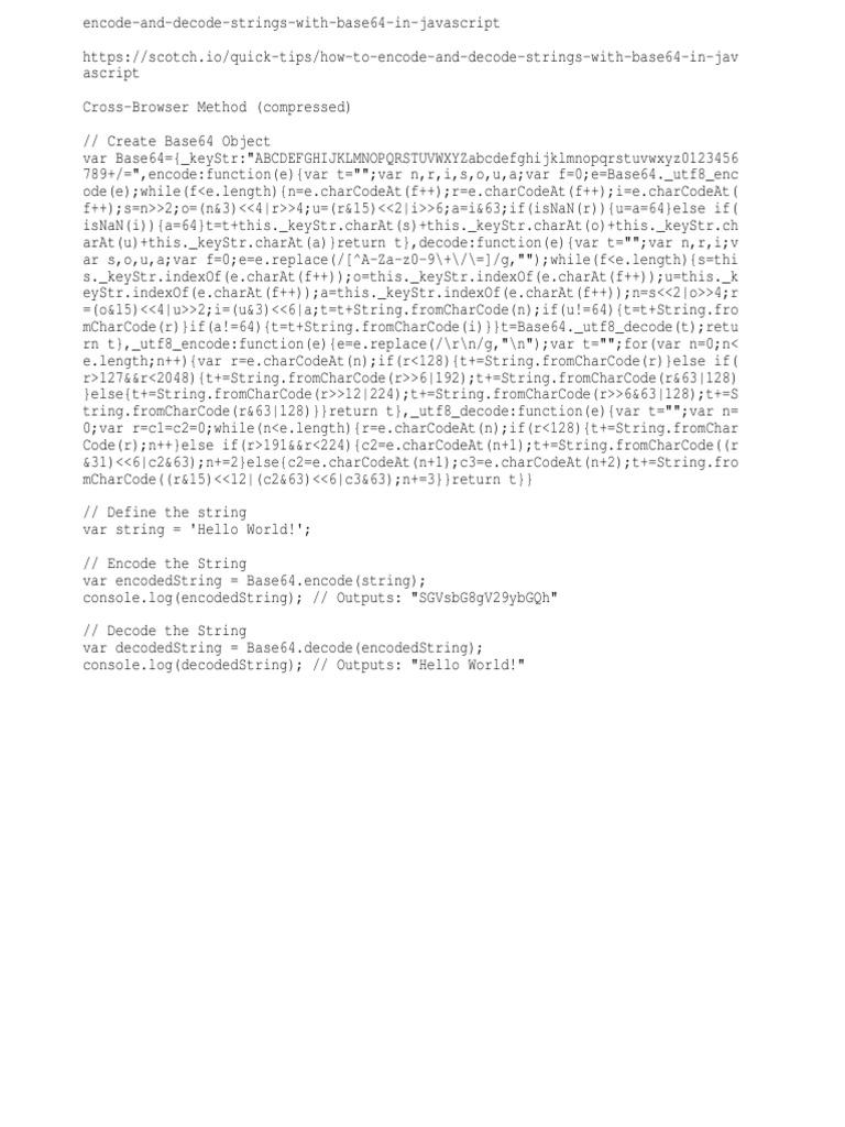 Jq - Encode-Decode Strings Using Base64