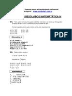 Matemática - Exercícios Resolvidos - Vestibular1 - IV