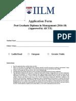 Application Form 2016-2018