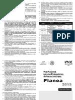 Normas Operativas PLANEA Basica 2015
