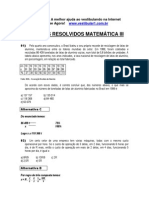 Matemática - Exercícios Resolvidos - Vestibular1 - III