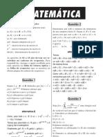 Matemática - Prova Resolvida - ITA Resolvido Matemática 2000