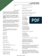 Matemática - Exercícios de Equações Lineares com Gabarito