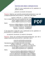 Matemática - Exercícios Resolvidos - Trigonometria Arcos