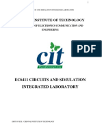 Ec6411 EC II Lab Manual 2013