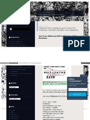 Videocon d2h Fta Intallatio | Set Top Box | Digital & Social