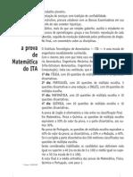 Matemática - Prova Resolvida - Anglo Resolve ITA 2005