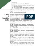 Matemática - Prova Resolvida - Anglo Resolve ITA 2004