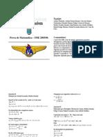 Matemática - Prova Resolvida - Rumo ao ITA Resolve Matematica IME2005