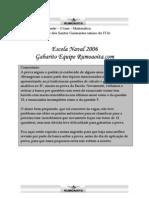 Matemática - Prova Resolvida - Rumo ao ITA Resolve Matemática 2006