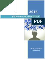 Programa de Asignatura Comptencias TIC