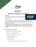 Practica 5 Identificación Bioquímica de Bacterias