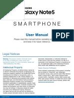 Samsung Galaxy Note5 Verizon Manual
