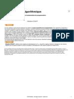 Algorithmique - Techniques Fondamentales de Programmation (Exemple en JAVA)