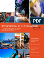 PPT SENCE 1.1 Introducción Al Mundo Laboral Soldador Industrial