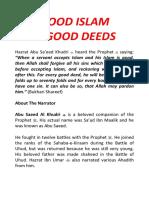 Good Islam & Good Deeds